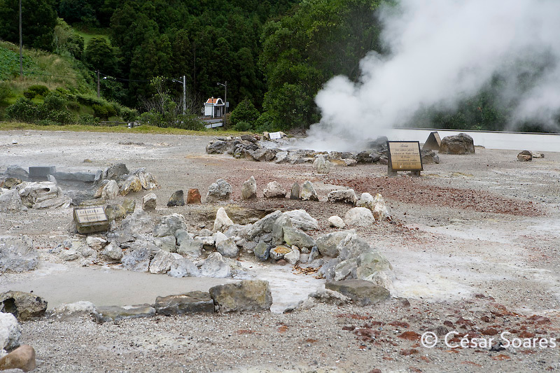 Hot spring in Furnas,Azores Portugal