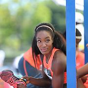 Funmi Jimoh, USA, in action during the Women's long Jump competiton during the Diamond League Adidas Grand Prix at Icahn Stadium, Randall's Island, Manhattan, New York, USA. 13th June 2015. Photo Tim Clayton