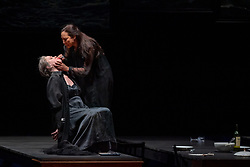 11.04.2019, Große Universitätsaula, Salzburg, AUT, Salzburger Osterfestspiele, Fotoprobe, Kammeroper Therese (Oper von Emile Zola), im Bild Renate Behle als Mme Raquin und Marisol Montalvo als Therese // during the rehearsal of the Chamber opera Therese (opera by Emile Zola). The Salzburg Easter Festival takes place from 13 April to 23 April 2019, at the Große Universitätsaula in Salzburg, Austria on 2019/04/11. EXPA Pictures © 2019, PhotoCredit: EXPA/ Ernst Wukits