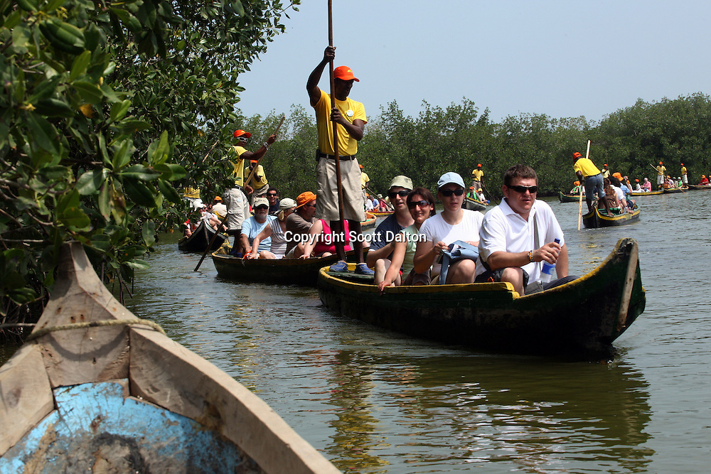 Tourists take a tour of La Ciénega de Tesca, a 22-sq. km. marsh in La Boquilla, just outside of Cartagena, on Sunday, April 20, 2008. (Photo/Scott Dalton).