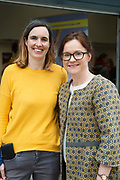 Mairead Ni Chronnin and Maeve Egan NUIG at the launch of The Galway Theatre Festival and the NUI Galway's O'Donoghue Centre for Drama, Theatre and Performance  . Photo:Andrew Downes, xposure