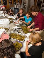 Food prepartations for the Greek Summer Festival.  Karen Bobotas/for the Laconia Daily Sun
