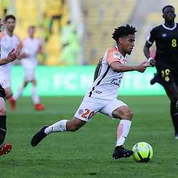 Keagan Dolly of Montpellier during his goal action during the Ligue 1 match between Nantes and Montpellier Herault SC at Stade de la Beaujoire on May 6, 2018 in Nantes, . (Photo by Eddy Lemaistre/Icon Sport)