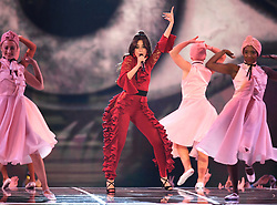 Camila Cabello on stage during the MTV Europe Music Awards 2017 held at The SSE Arena, London. Photo credit should read: Doug Peters/EMPICS Entertainment