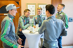Ski jumping team during official presentation of the outfits of the Slovenian Ski Teams before new season 2015/16, on October 6, 2015 in Kulinarika Jezersek, Sora, Slovenia. Photo by Vid Ponikvar / Sportida