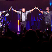 September 25, 2013 - New York, NY: From left, Verdine White, Ralph Johnson, and Philip Bailey of the band Earth, Wind & Fire perform at the Beacon Theatre in Manhattan on Wednesday night.<br /> CREDIT: Karsten Moran for The New York Times