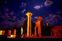 Karnak Temple at night, Luxor, Egypt