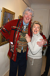 DAVID GAINSBOROUGH ROBERTS and VICTORIA WOLCOUGH at an exhibition of art by Bo Sigrist Guirey (Princess Azamat Guirey) held at Square One Gallery, 592 Kings Road, London SW6 on 13th December 2005.<br /><br />NON EXCLUSIVE - WORLD RIGHTS