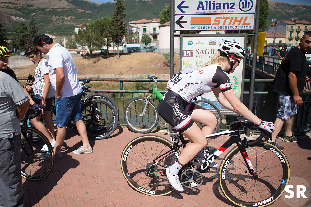 Rozanne Slik (NED) of Team Sunweb rides back to the team bus after Stage 9 of the Giro Rosa - a 122.3 km road race, between Centola fraz. Palinuro and Polla on July 8, 2017, in Salerno, Italy. (Photo by Balint Hamvas/Velofocus.com)