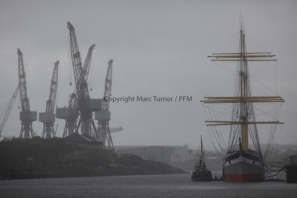 Berthed next to the Tall Ship the Glenlee at Glasgow
