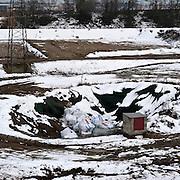 Casale Monferrato, Italy, feb.2010. Discarica di amianto, asbestos dump.