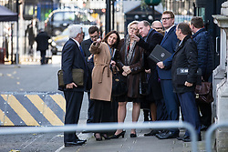 © Licensed to London News Pictures. 13/11/2017. London, UK. Carolyn Fairbairn (second from left), director-general of the Confederation of British Industry (CBI), leads European business leaders onto Downing Street for a meeting with Prime Minister Theresa May in which they will voice their concerns about the future of UK-EU trade. Photo credit: Rob Pinney/LNP