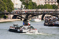 River Seine Paris France in Spring time of May 2008