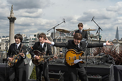 The launch of the new West End Beatles musical Let It Be on the rooftop of a London hotel, Thursday, 23rd August 2012.   Photo by: i-Images