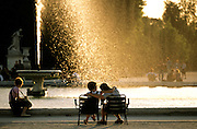 Tuileries Garden fountain; Paris; Frence.(NO MODEL RELEASE)