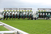 The horses break from the Starting Stalls prior to The Little Green Rascals Childrens Nurseries Stakes over 2m (£17,000)  during the Newby and the Press Family Raceday at York Racecourse, York, United Kingdom on 9 September 2018. Picture by Mick Atkins.