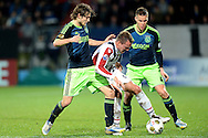 Onderwerp/Subject: Willem II - Ajax - Eredivisie<br /> Reklame:  <br /> Club/Team/Country: <br /> Seizoen/Season: 2012/2013<br /> FOTO/PHOTO: Aurelien JOACHIM (C) of Willem II in duel with Daley BLIND (L) of Ajax and Niklas MOISANDER (R) of Ajax. (Photo by PICS UNITED)<br /> <br /> Trefwoorden/Keywords: <br /> #04 #17 $94 ±1342782825903<br /> Photo- & Copyrights © PICS UNITED <br /> P.O. Box 7164 - 5605 BE  EINDHOVEN (THE NETHERLANDS) <br /> Phone +31 (0)40 296 28 00 <br /> Fax +31 (0) 40 248 47 43 <br /> http://www.pics-united.com <br /> e-mail : sales@pics-united.com (If you would like to raise any issues regarding any aspects of products / service of PICS UNITED) or <br /> e-mail : sales@pics-united.com   <br /> <br /> ATTENTIE: <br /> Publicatie ook bij aanbieding door derden is slechts toegestaan na verkregen toestemming van Pics United. <br /> VOLLEDIGE NAAMSVERMELDING IS VERPLICHT! (© PICS UNITED/Naam Fotograaf, zie veld 4 van de bestandsinfo 'credits') <br /> ATTENTION:  <br /> © Pics United. Reproduction/publication of this photo by any parties is only permitted after authorisation is sought and obtained from  PICS UNITED- THE NETHERLANDS