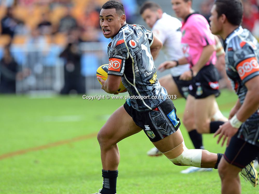 Junior fullback Ngataua Hukatai. Holden Cup Rugby League match, Vodafone Junior Warriors v Junior Rabbitohs at Mt Smart Stadium, Auckland, New Zealand on Sunday 7 April 2013. Photo: Andrew Cornaga/Photosport.co.nz