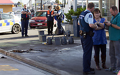 Tauranga- Man set on fire out side Service Station