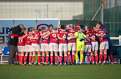 Bristol City Women pre-match huddle - Mandatory by-line: Paul Knight/JMP - 28/03/2018 - FOOTBALL - Stoke Gifford Stadium - Bristol, England - Bristol City Women v Birmingham City Ladies - FA Women's Super League