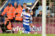 QPR defender Jake Bidwell (3) scores a goal and celebrates  0-2 during the EFL Sky Bet Championship match between Aston Villa and Queens Park Rangers at Villa Park, Birmingham, England on 13 March 2018. Picture by Dennis Goodwin.