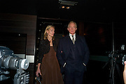 Eleanor Boorman;  Charles Dance, The afterparty following the press night of 'No Man's Land', at Mint Leaf. Haymarket October 7, 2008 *** Local Caption *** -DO NOT ARCHIVE-© Copyright Photograph by Dafydd Jones. 248 Clapham Rd. London SW9 0PZ. Tel 0207 820 0771. www.dafjones.com.