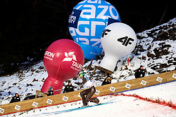 Poland, Zakopane - 2018 January 28: Domen Prevc from Slovenia is landing on the snow while 18th World Cup Competition Men's HS140 Large Hill Individual during FIS Ski Jumping World Cup Zakopane 2017/2018 - Day 3 at Wielka Krokiew jumping hill on January 28, 2018 in Zakopane, Poland.<br /> <br /> Mandatory credit:<br /> Photo by &copy; Adam Nurkiewicz<br /> <br /> Adam Nurkiewicz declares that he has no rights to the image of people at the photographs of his authorship.<br /> <br /> Picture also available in RAW (NEF) or TIFF format on special request.<br /> <br /> Any editorial, commercial or promotional use requires written permission from the author of image.