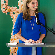 NLD/Amsterdam/20140930 - Konining Maxima opent museum Micropia, Eveline Hensel