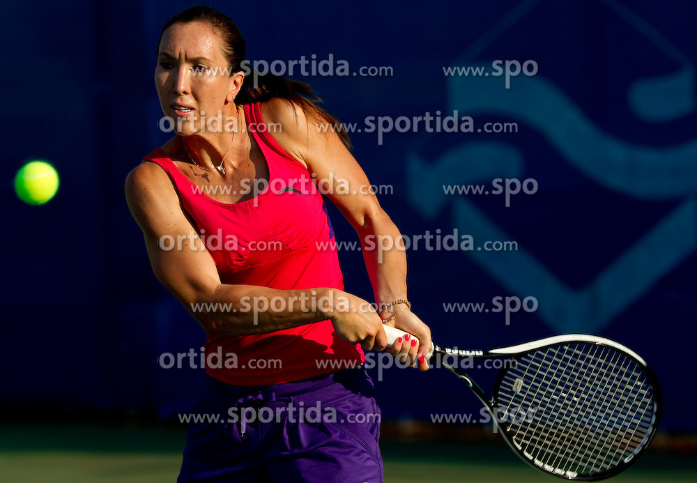 Jelena Jankovic of Serbia in action during practice session before  2nd Round of Singles at Banka Koper Slovenia Open WTA Tour tennis tournament, on July 22, 2010 in Portoroz / Portorose, Slovenia. (Photo by Vid Ponikvar / Sportida)