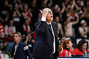 Attilio Caja<br /> Pallacanestro Varese - S.Oliver Wuzburg<br /> FIBA Europe Cup 2018/2019<br /> Semi-Finals Gameday 1 - Game 1 <br /> Varese 10 April 2019<br /> Foto Mattia Ozbot / Ciamillo-Castoria