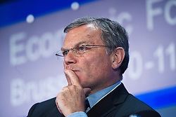 Sir Martin Sorrell, chief executive officer of WPP, listens during the World Economic Forum in Brussels, Monday May 10, 2010. (Photo © Jock Fistick)