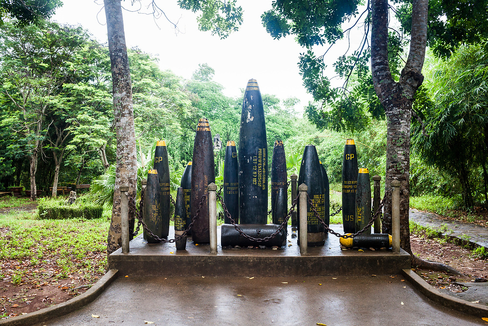Bombs at a war museum in central Vietnam.