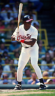 CHICAGO - 1990:  Frank Thomas of the Chicago White Sox bats during an MLB game at Comiskey Park in Chicago, Illinois.  Thomas played for the White Sox from 1990-2005.  (Photo by Ron Vesely)