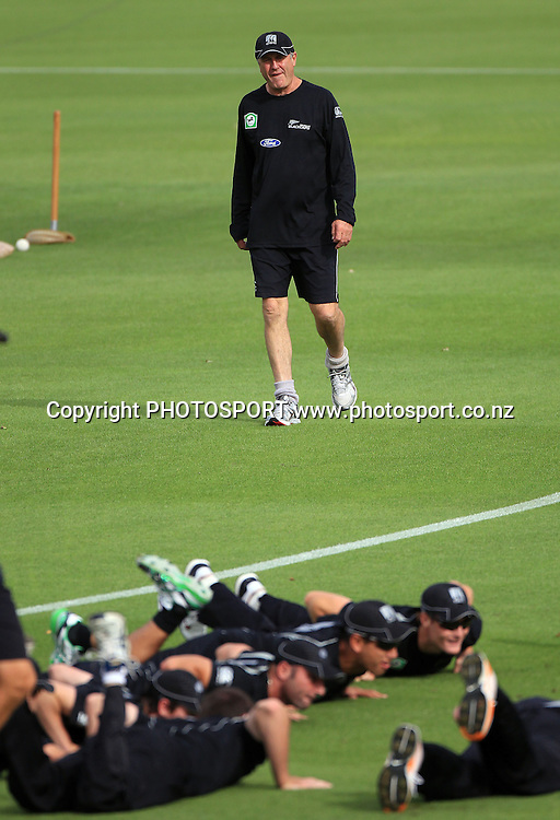 John Wright. New Zealand Black Caps v Pakistan, Match 2. Twenty 20 Cricket match at Seddon Park, Hamilton, New Zealand. Tuesday 28 December 2010. Photo: Andrew Cornaga/photosport.co.nz
