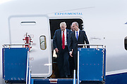 U.S. President Donald Trump with Boeing CEO Dennis Muilenburg, right, after touring the new Boeing 787-10 Dreamliner aircraft at the Boeing factory February 17, 2016 in North Charleston, SC. Trump is at the factory for the rollout of the new aircraft.