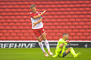Barnsley Cameron McGeehan (8) in action during the Pre-Season Friendly match between Barnsley and Sheffield United at Oakwell, Barnsley, England on 27 July 2019.