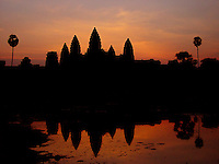 Just before sunrise in Angkor Wat