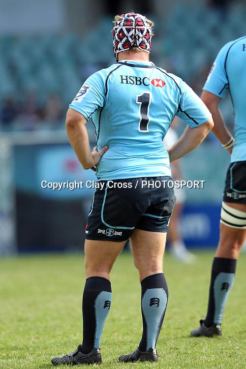 Benn Robinson. Waratahs v Force. 2013 Investec Super Rugby Season. Allianz Stadium, Sydney. Sunday 31 March 2013. Photo: Clay Cross / photosport.co.nz