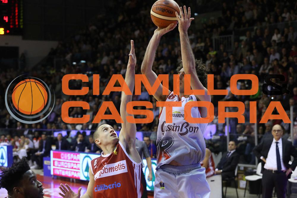 Amedeo Della Valle<br /> Grissin Bon Reggio Emilia - Openjobmetis Pallacanestro Varese<br /> LegaBasket Serie A 2017/2018<br /> Reggio Emilia, 16/12/2017<br /> Foto Ciamillo-Castoria