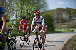 Joelle Numainville (CAN) of Cervélo-Bigla Cycling Team rides mid-pack during the second, 110.1km road race stage of Elsy Jacobs - a stage race in Luxembourg in Garnich on May 1, 2016.