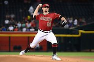 PHOENIX, AZ - AUGUST 03:  Zack Godley #52 of the Arizona Diamondbacks delivers a pitch in the first inning against the Washington Nationals at Chase Field on August 3, 2016 in Phoenix, Arizona. The Nationals beat the Diamondbacks 8 to 3.  (Photo by Jennifer Stewart/Getty Images)