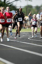 Hamilton, Ontario ---06/06/08--- Daniella Anane-Bediakoh of St.Marguerite D'YouvilleinBramp competes in the 4X100 meter relay at the 2008 OFSAA Track and Field meet in Hamilton, Ontario..SEAN BURGES