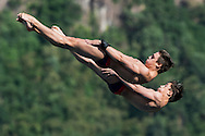 Team USA COOPER Zachary FLORY Maxwell bronze medal<br /> Bolzano, Italy <br /> 22nd FINA Diving Grand Prix 2016 Trofeo Unipol<br /> Diving<br /> Men's 10m synchronised platform final <br /> Day 01 15-07-2016<br /> Photo Giorgio Perottino/Deepbluemedia/Insidefoto