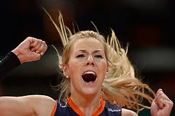 07-01-2016 TUR: European Olympic Qualification Tournament Nederland - Kroatie, Ankara<br /> Nederland verslaat Kroatië met 3-0 en gaat als groepswinnaar de halve finale in / Laura Dijkema #14