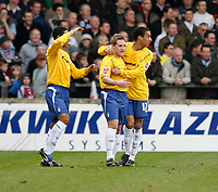 Photo: Steve Bond.<br />Scunthorpe United v Nottingham Forest. Coca Cola League 1. 10/03/2007. Kris Commons celebrates