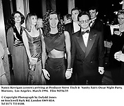 Nancy Kerrigan (centre) arriving at Producer Steve Tisch &  Vanity Fair's Oscar Night Party,<br />Mortons,  Los Angeles. March 1994.  Film 94556/35<br /> <br />© Copyright Photograph by Dafydd Jones<br />66 Stockwell Park Rd. London SW9 0DA<br />Tel 0171 733 0108.