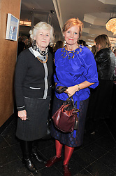 Left to right, SARAH GUINNESS and her daughter LOUISA GUINNESS  at a ladies lunch in support of Maggie's Barts hosted by Judy Naake, Clara Weatherall and Caroline Collins at Le Cafe Anglais, 8 Porchester Gardens, London W2 on 19th March 2013.