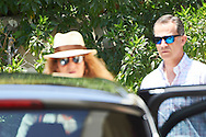 Princess Elena, King Felipe VI of Spain attended the 80th birthday party of Princess Pilar at his house in Calvia on July 30, 2016 in Mallorca, Spain