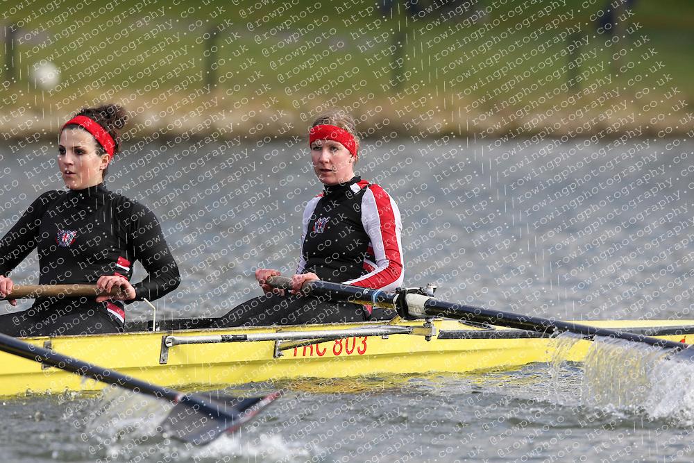 2012.02.25 Reading University Head 2012. The River Thames. Division 1. Thames Rowing Club WNov 8+