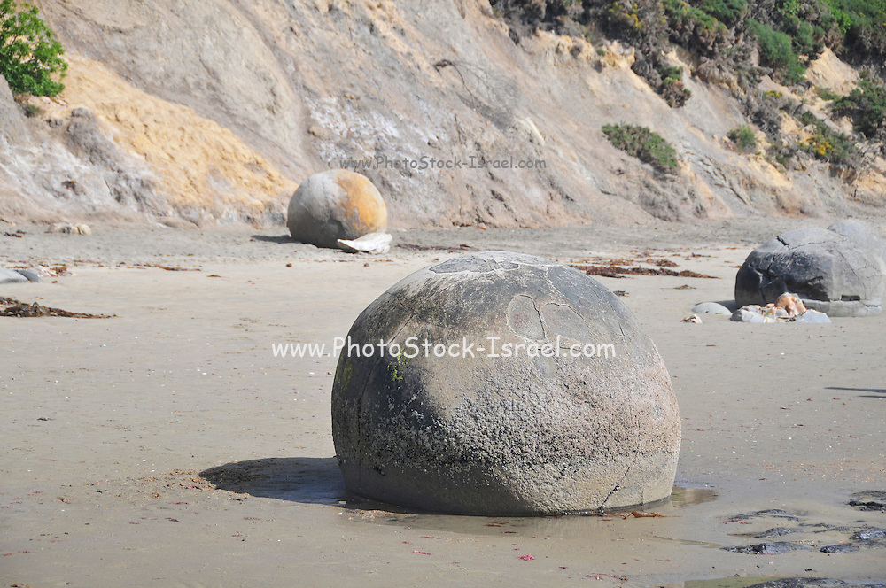 New Zealand, South Island, Otago, Koekohe Beach, Moeraki Boulders